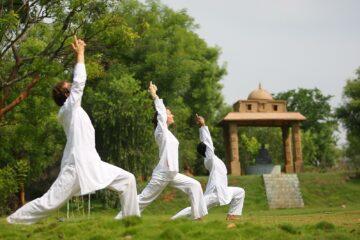 Yoga Asana im Ashram