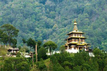 Buddhistischer Tempel in Bhutan