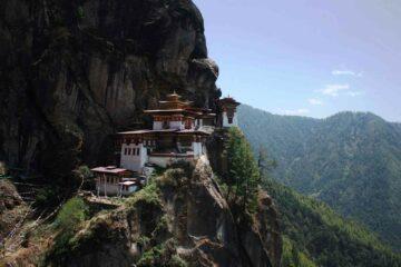 Blick auf das Kloster des Tigers Taktsang