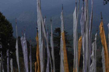 Buddhistische Gebetsfahnen in Bhutan