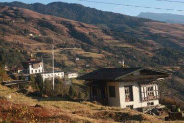 Blick über ein bhutanesisches Tal