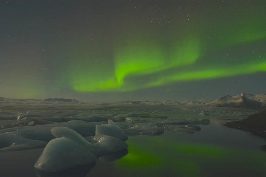 Nordlicht über Island