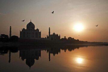 Der Taj Mahal im Sonnenuntergang