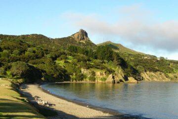 Blick auf die Hokianga Bay
