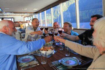 Abendessen auf dem Boot