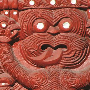 Maori Schnitzerei Maori Lodge