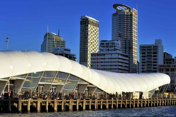 The Wharf in Aucklands Hafen