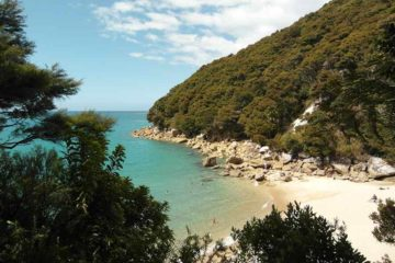 Bademöglichkeit im Abel Tasman Nationalpark