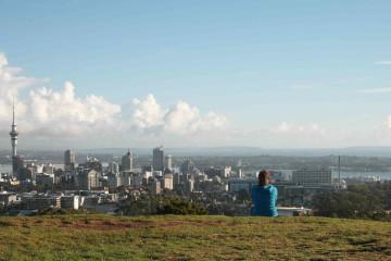 Blick über Auckland vom Mt. Eden
