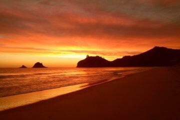 Sonnenuntergang am Hahei Beach
