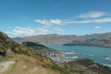 Blick auf den Hafen von Christchurch