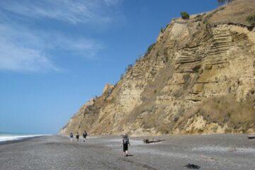 Wanderung an der Küste