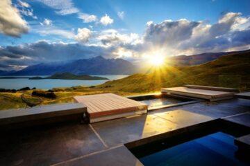 Blick vom Pool des Aro Hā