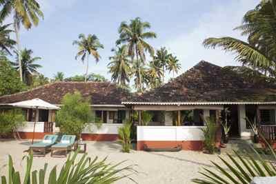 Palm-Bungalow im Marari Beach