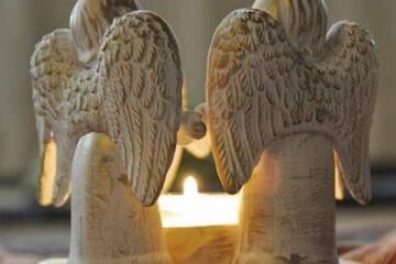 Kerzenlicht mit Engeln