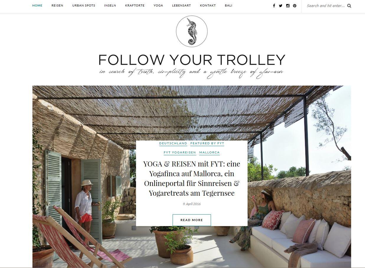 Veröffentlichung über Wainando auf dem Blog Follow Your Trolley im April 2016