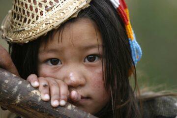Mädchen in Bhutan