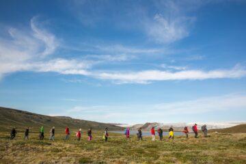 Gruppe bei der schamanischen Wanderung