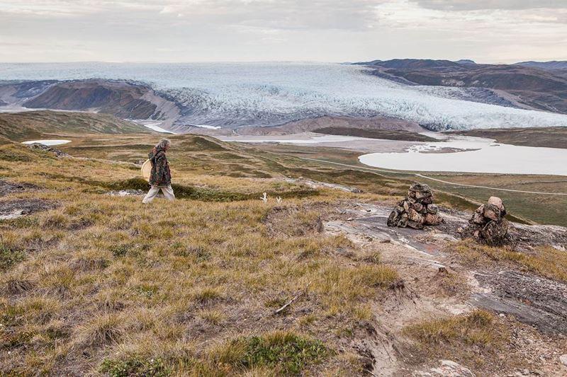 Angaangaq beim Wandern