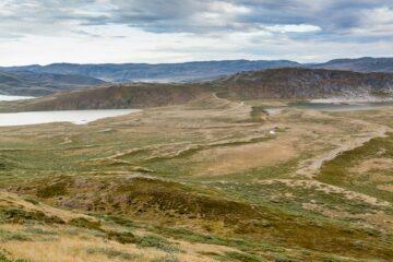 Blick auf die weite Landschaft