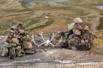 Blick auf das Camp von oben