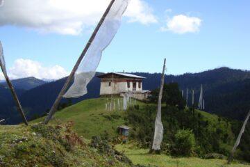 Blick auf das Jeledzong Kloster