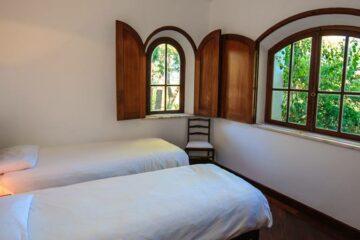 Blick auf ein Schlafzimmer