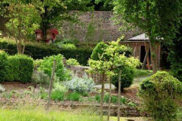 Garten mit Kräuterfeld im Kloster Schöntal
