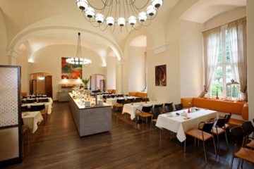 Speisesaal mit Buffet-Theke Kloster Schöntal
