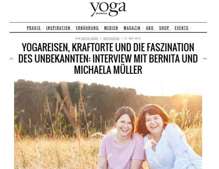 Veröffentlichung über Wainando Yoga-Journal vom 31. Mai 2016