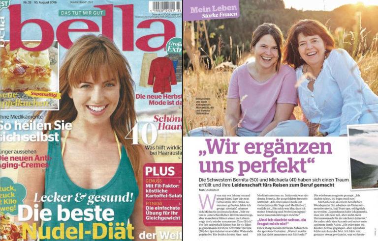 Veröffentlichung über Wainando in der bella vom 10. August 2016