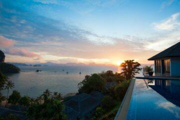 Sonnenuntergang von der Hill Top Villa
