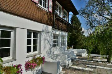 Terrasse Haupthaus - Rezeption - Restaurant