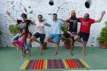 Spaß beim Yoga