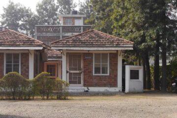 Blick auf das Büro des Swami Rama Sadhaka Grama Ashram