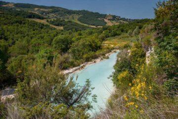 See inmitten der Landschaft Bagno Vignoni