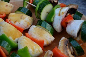 Gemüse auf Schaschlikspieß