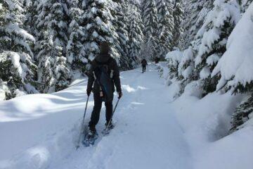 Wanderer in Schneeschuhen