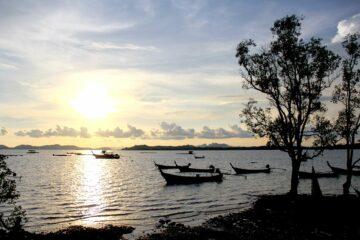 Bucht im Sonnenschein