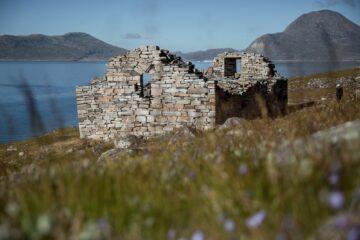 Ruine aus Stein ohne Dach