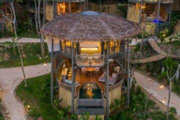 Treehouse beleuchtet