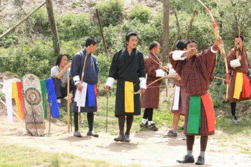 Gruppe von Einheimischen