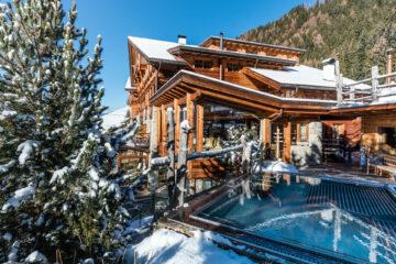 Haupthaus im Schnee
