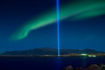 Friedenssäule von Reykjavík