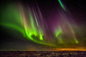 Nordlichter bei Reykjavik