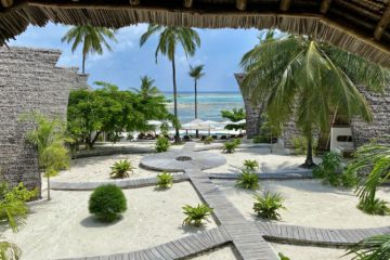 Resort am Strand von Sansibar