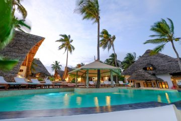 Eindrücke vom Resort am Strand von Sansibar