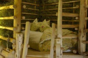 Bettkoje im Stroh