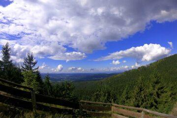 Zaun mit Aussicht über den Thüringer Wald