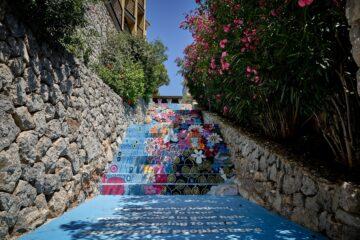 Bemalter Treppenaufgang